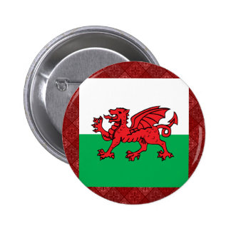 Welsh High quality Flag 2 Inch Round Button