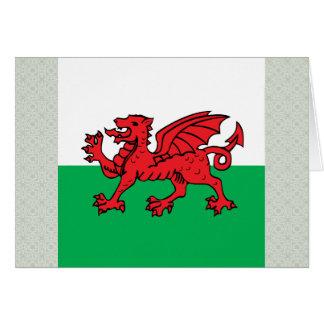 Welsh High quality Flag Greeting Card