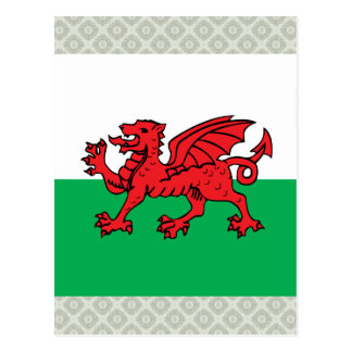 Welsh High quality Flag Postcard