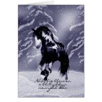 Welsh Horse Christmas Card - Digital Painting - Na