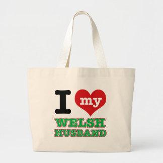 Welsh I heart designs Canvas Bag
