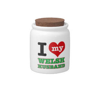 Welsh I heart designs Candy Jars
