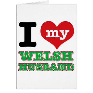 Welsh I heart designs Greeting Cards