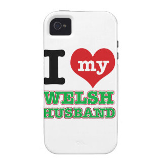 Welsh I heart designs iPhone 4/4S Covers