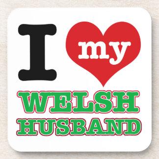Welsh I heart designs Coaster