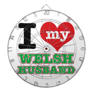 Welsh I heart designs Dart Board