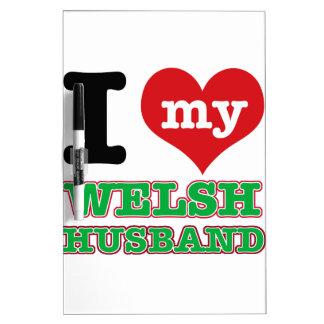 Welsh I heart designs Dry Erase Boards