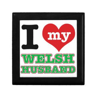 Welsh I heart designs Trinket Boxes