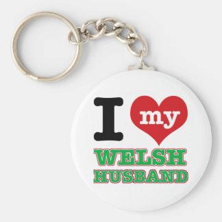 Welsh I heart designs Key Chains