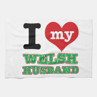 Welsh I heart designs Towel