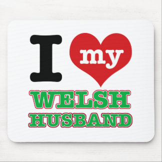 Welsh I heart designs Mouse Pads
