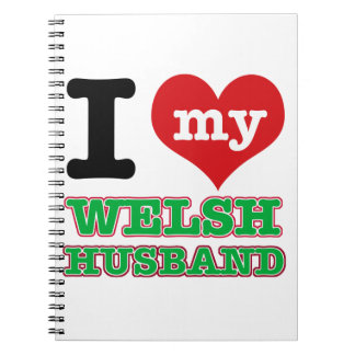 Welsh I heart designs Spiral Note Book
