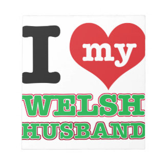 Welsh I heart designs Notepads