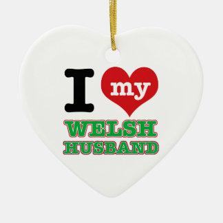 Welsh I heart designs Ornaments