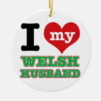 Welsh I heart designs Christmas Ornament
