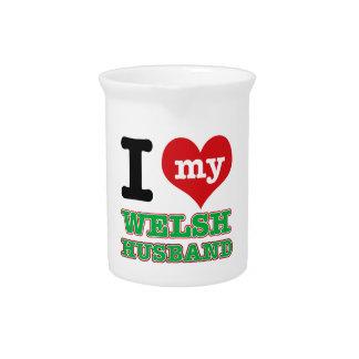 Welsh I heart designs Beverage Pitcher