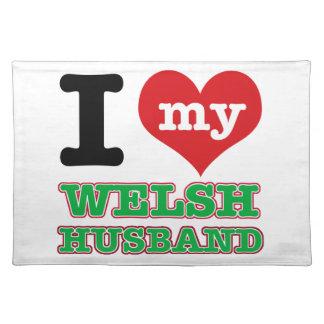 Welsh I heart designs Place Mat