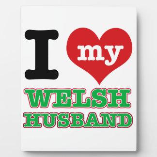 Welsh I heart designs Photo Plaques