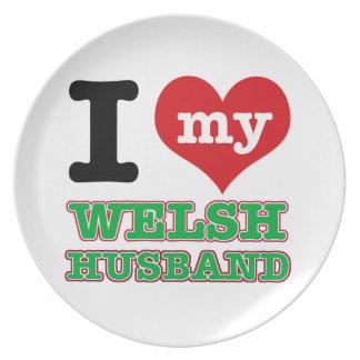 Welsh I heart designs Plate