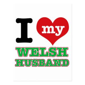 Welsh I heart designs Post Cards
