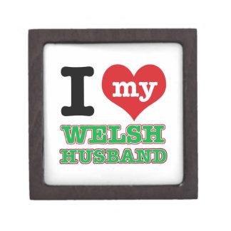 Welsh I heart designs Premium Keepsake Boxes