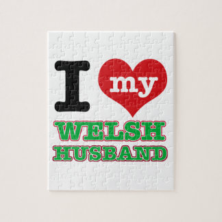 Welsh I heart designs Puzzles