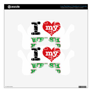 Welsh I heart designs Skins For PS3 Controllers