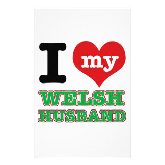 Welsh I heart designs Stationery Paper