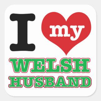 Welsh I heart designs Sticker