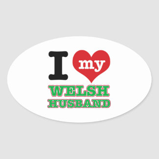 Welsh I heart designs Stickers