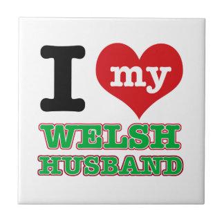 Welsh I heart designs Tiles