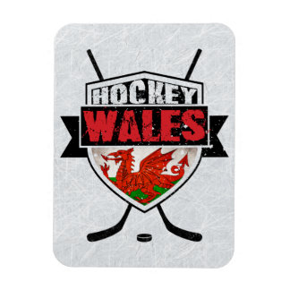 Welsh Ice Hockey Shield Magnet