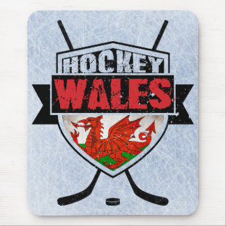 Welsh Ice Hockey Shield Mouse Pad