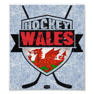 Welsh Ice Hockey Shield Photo Print