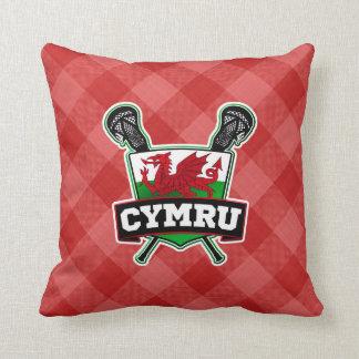 Welsh Lacrosse Throw Cushion