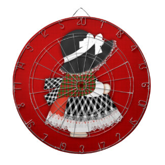 Welsh Lady Design With Traditional Costume Dartboard