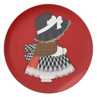 Welsh Lady Design With Traditional Costume Dinner Plate