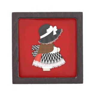 Welsh Lady Design With Traditional Costume Keepsake Box