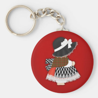 Welsh Lady Design With Traditional Costume Keychain