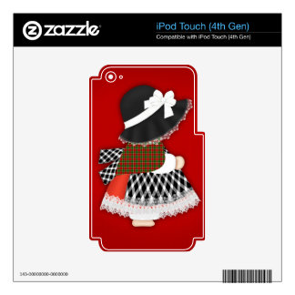 Welsh Lady Design With Traditional Costume Skin For iPod Touch 4G
