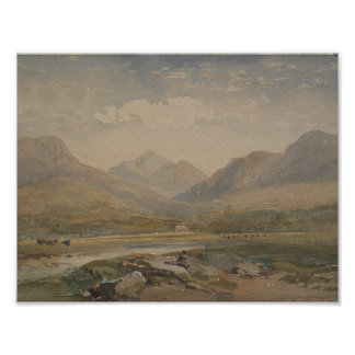 Welsh landscape, United Kingdom, by David Cox Juni Poster