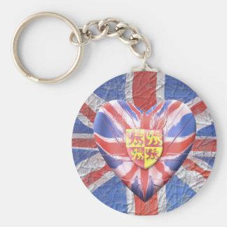 Welsh Lions Basic Round Button Keychain