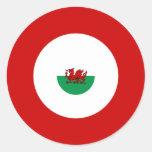 Welsh Mod Bullseye Round Sticker