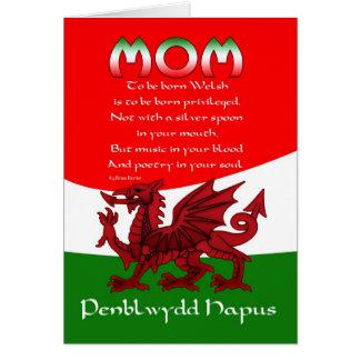 Welsh Mom Birthday Card - Poem By Brian Harris