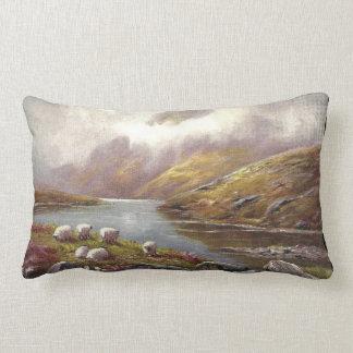 Welsh Mountain Lake Lumbar Pillow
