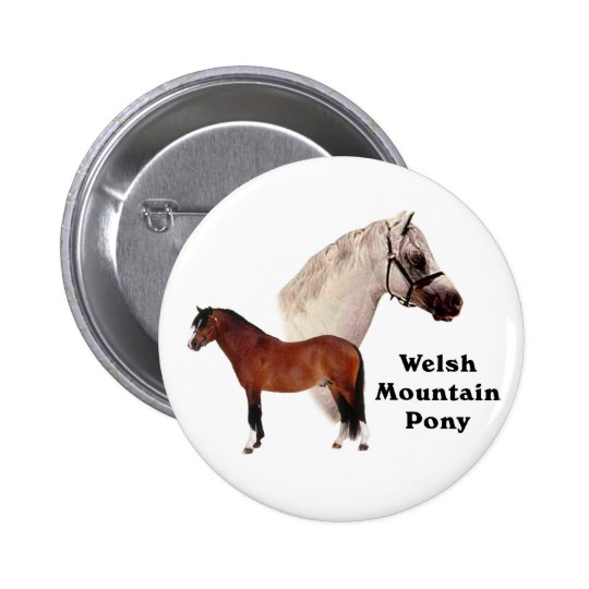 Welsh Mountain Pony Button