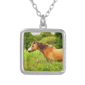 WELSH MOUNTAIN PONY SILVER PLATED NECKLACE