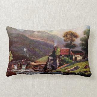 Welsh Mountain Stream Lumbar Pillow