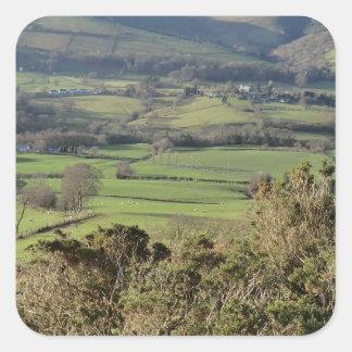 Welsh Mountain Walk in Winter Square Sticker