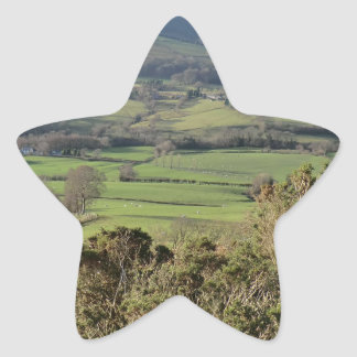 Welsh Mountain Walk in Winter Star Sticker